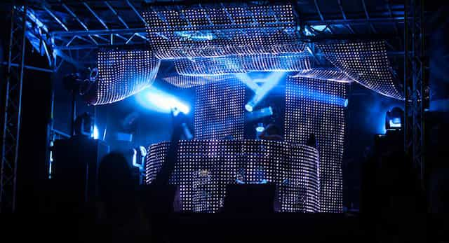 Ultra Music Festival Mobile Stage, LED Curtains And VOID SYSYEM