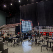 Setting up led walls at the Hard Rock Hotel and Casino Hollywood Florida