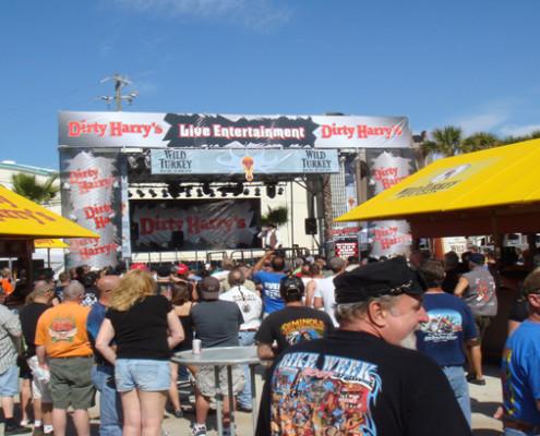 Daytona Beach Florida. - Dirty Harry's Bike Week