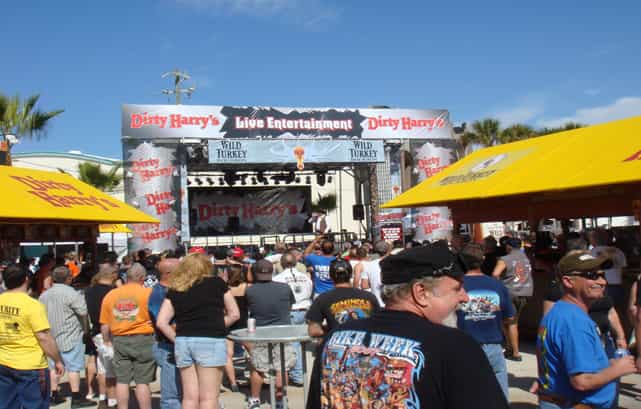 Daytona Beach Florida. - Dirty Harry's Bike Week