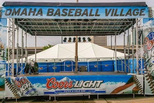 Omaha Baseball Village Nebraska Coors Light Mobile Stage
