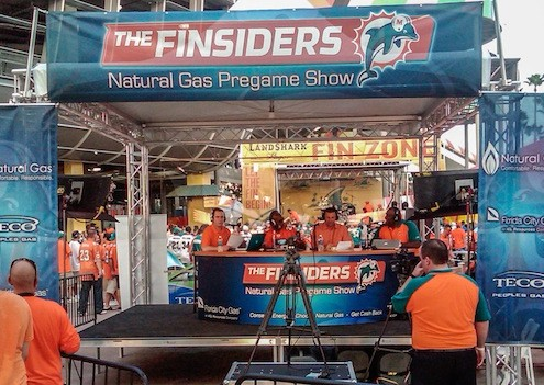 The Finsiders Natural Gas Pre-game Show Dolphin Stadium FL Broadcast Mobile Stage
